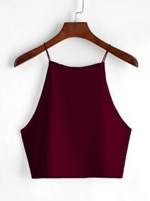 Wine Red Cami Top