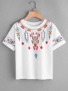 Tee-shirt imprimé du dessin Aztèque