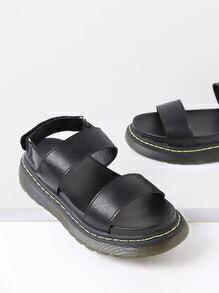 Strapy Flatform PU Sandals