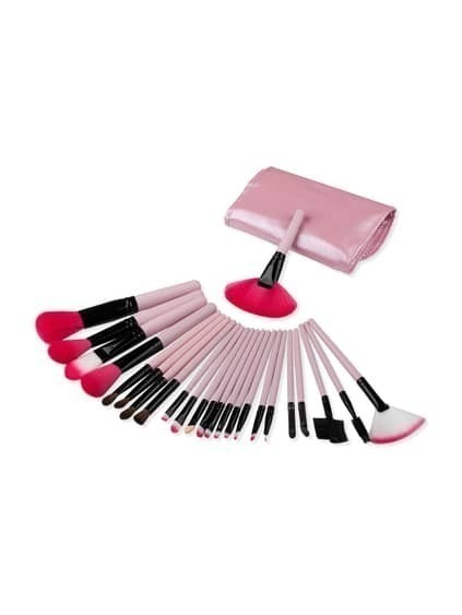 Zarte Make-up Pinsel Set mit Tasche