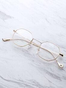 Clear Lens Polygon Glasses