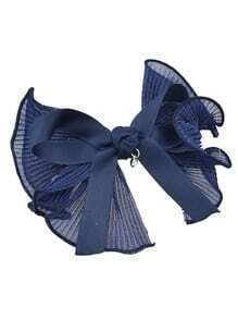 Navyblue Color Ribbon Big Bowtie Shape Hair Clips Barrettes