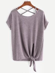 Tee-shirt croisé avec un nœud