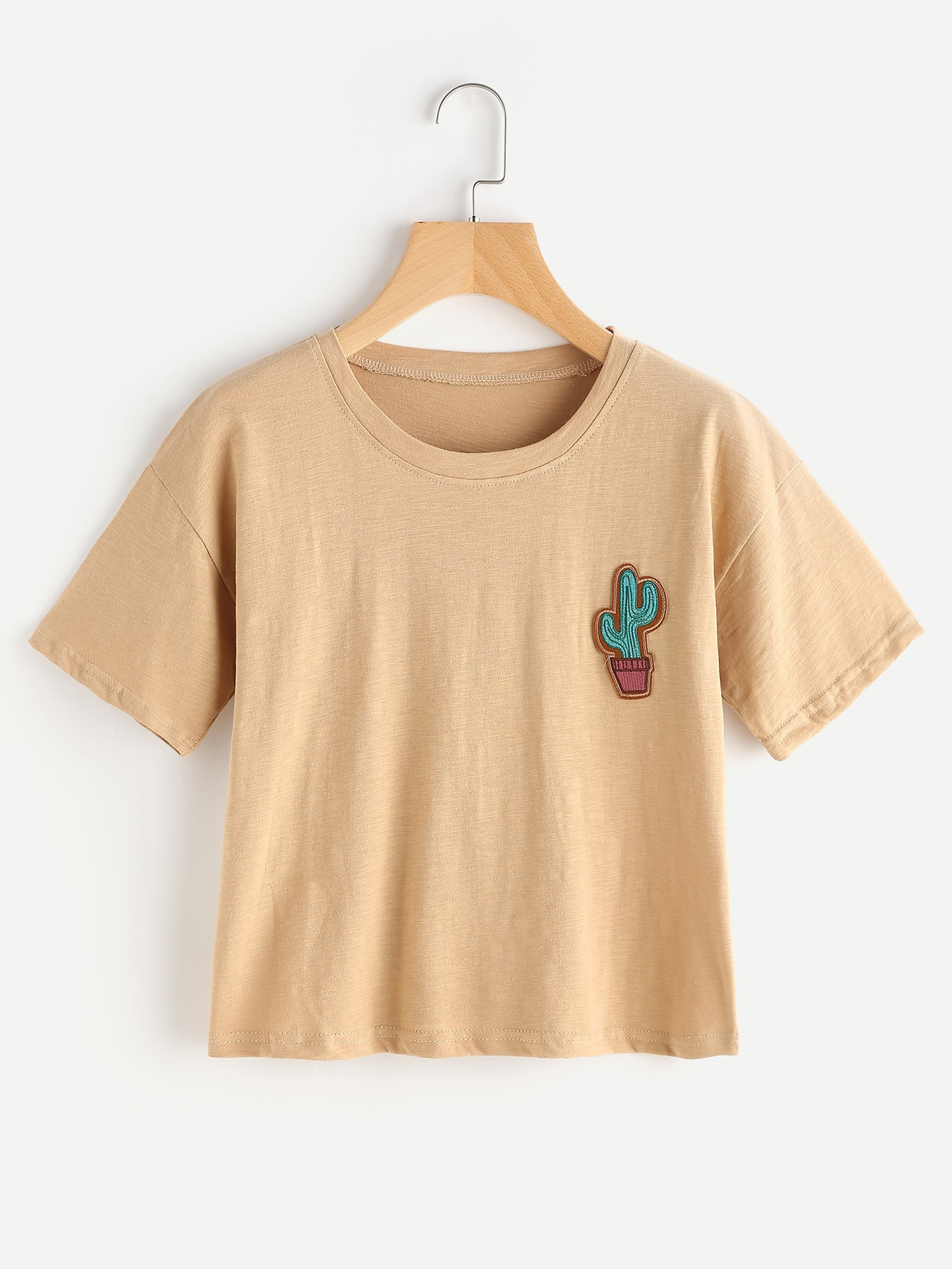 Cactus Embroidered Patch Tee