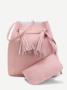 Buy Tassel Detail Shoulder Bag Pouch