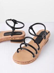 Sandalias con diseño de correa