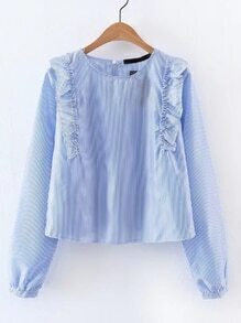 Blusa fruncido de rayas