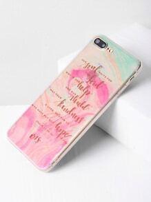 Aquarell-Slogan-Druck-klares iPhone 7 Plus Fall