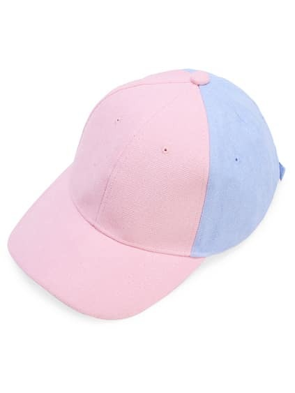 Gorra béisbol en color block