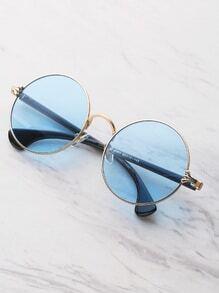 Gafas de sol redondas con marco en dos tonos