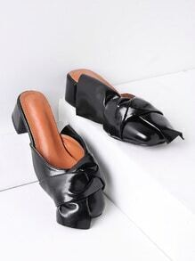 Nuls Knot Design Heather Mules