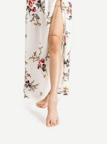 Cadena de piernas de doble fila Rhinestone