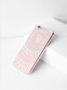 Caja clara del iPhone 6 / 6s del diseño de la flor