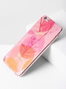 Blatt-Druck Clear Soft iPhone 6 Plus / 6s Plus