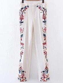Floral Full Length Bell-Bottoms Pants