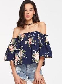 Florals Off Shoulder Top