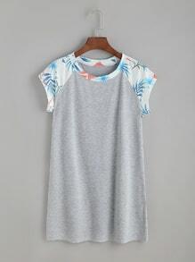 Contraste Raglan Sleeve Tshirt