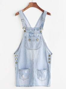 Robe de lavabo rasée Bleach Wash Denim