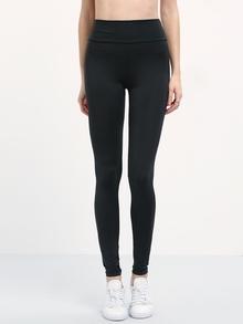 Leggings mit schmal elastischemBund -schwarz