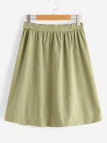 Falda línea A de cintura elástica
