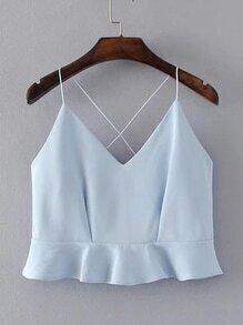 Veste croisée à dos avec des plis