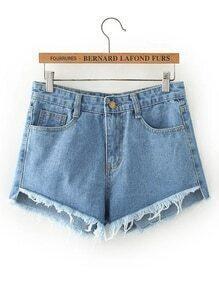 Shorts élimé en denim