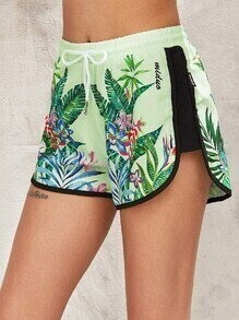 Shorts dauphin imprimés tropical