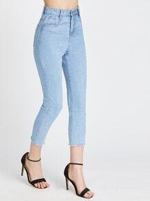 Fray Hem Crop Jeans
