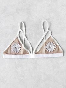 Crochet Flower Patch Triangle Bralet