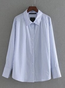 Vertical Striped Work Blouse