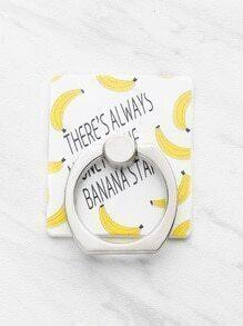 Banana Print Finger Ring Phone Holder