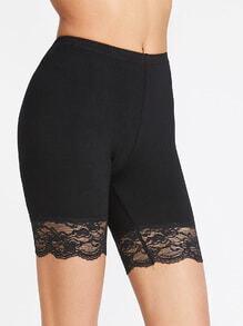 Lace Trim Short Leggings