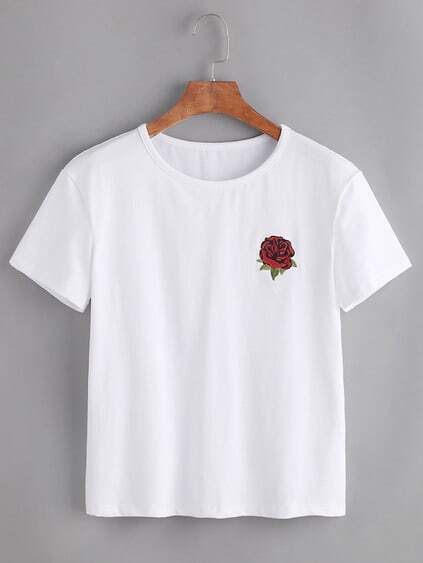 Rose Embroidered Tshirt