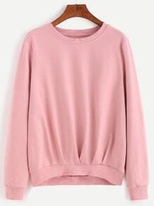 Falten Sweatshirt drapieren vorne-rosa