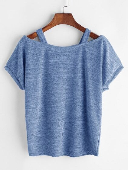 Open Shoulder Slub Tee