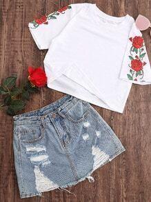 Tee-shirt imprimé des roses