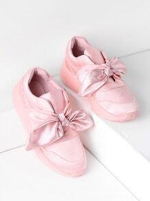 Chaussures de sport satinés avec des nœuds papillon