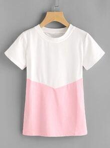 Tee-shirt color-block