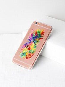 Pineapple Print Soft iPhone 6/6s Case