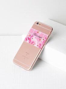 Funda para iPhone 6/6s suave con estampado de flamingo
