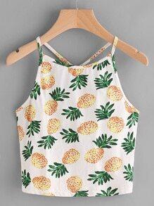 Veste imprimé des ananas