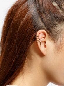 Snake Shaped Wrap Around Ear Cuff 1pc