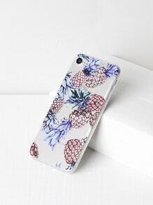 Pineapple Print Soft iPhone 7 Case