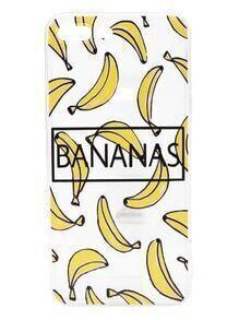 Funda para iPhone 7 Plus con estampado de plátanos