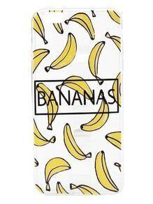 Funda para iPhone 6 Plus/6s Plus con estampado de plátanos