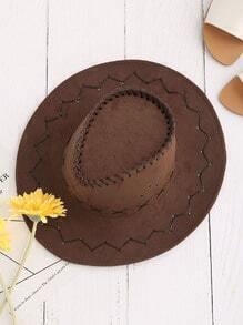 Criss Cross Detail Cowboy Hat