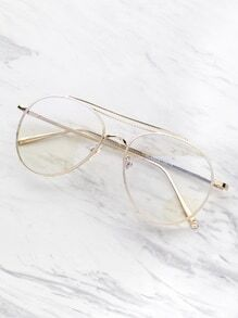 latest style in eyeglasses i75g  Clear Lens Aviator Glasses
