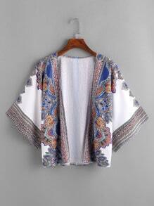 Kimono playero con estampado tribal