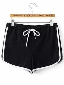 Buy Contrast Binding Runner Shorts