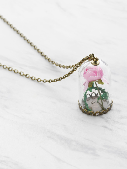 Flower Pendant Chain Necklace